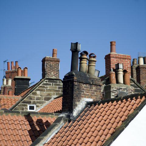 Variety of chimney pots in Robin Hoods Bay