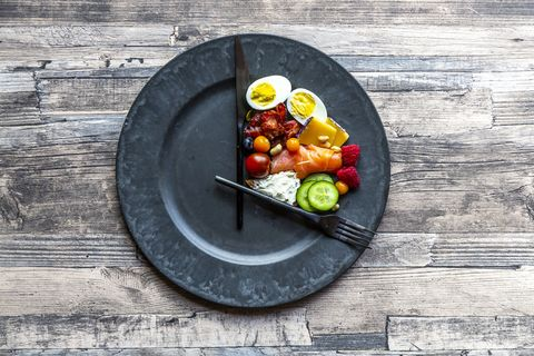 variety of food on round plate, intermittent fasting
