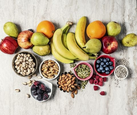 variety of fruits and nuts