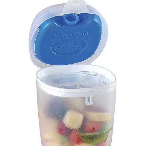 Recipiente refrigerado para el yogur