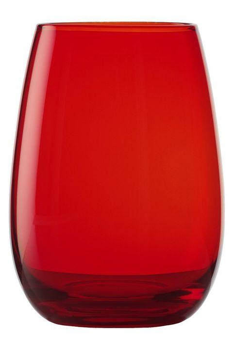 Vaso rojo de cristal