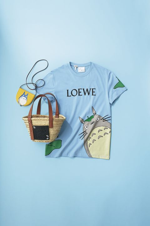 ロエベ×『となりのトトロ』のtシャツとバッグ