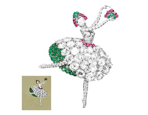 Fashion accessory, Jewellery, Brooch, Plant, Illustration,