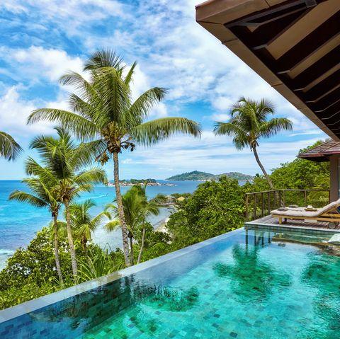 Property, Resort, Swimming pool, Vacation, Caribbean, House, Real estate, Natural landscape, Tropics, Building,