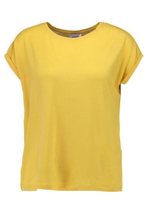 Clothing, T-shirt, Yellow, Sleeve, Neck, Top, Blouse, Active shirt,