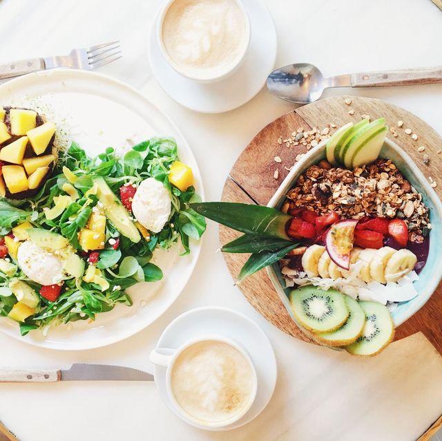 two vegan breakfasts