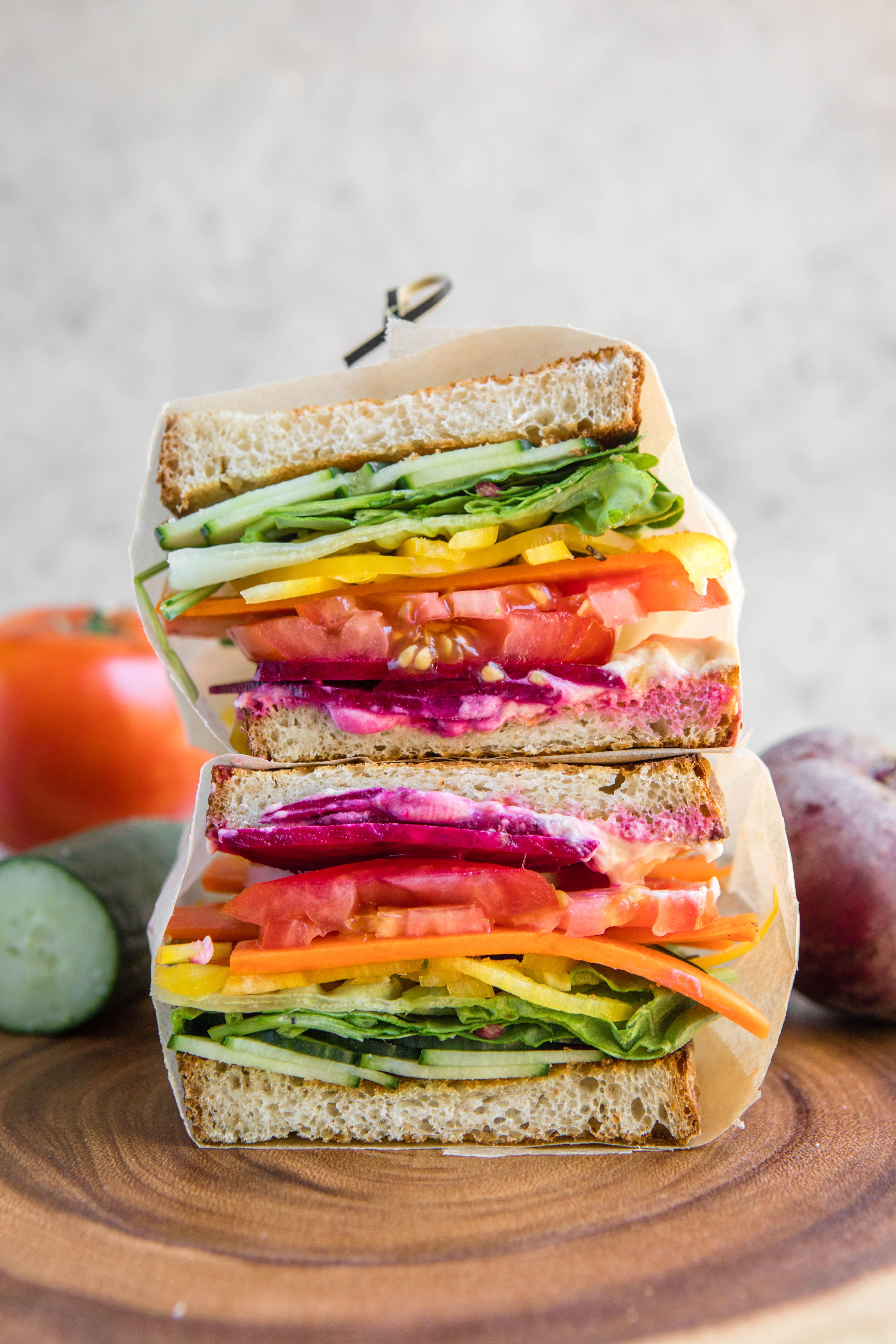 vegan camping food recipes sandwich