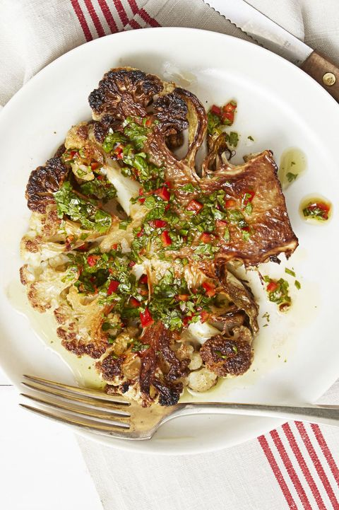 Vegan Christmas Dinner- Cauliflower Steak