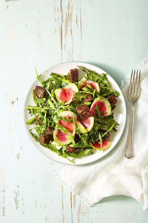 Vegan Christmas Dinner - Garden Greens and Pumpernickel Panzanella