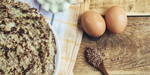 Pannenkoek, eieren en lijnzaad