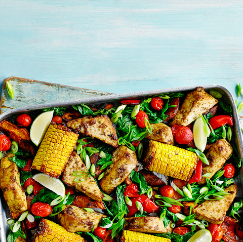 best vegetarian bbq recipes jerk tofu tray bake