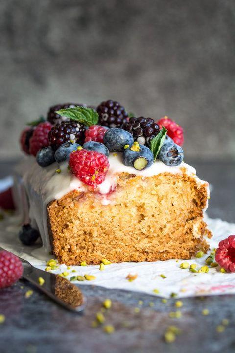 Vegan Lemon Raspberry Cake