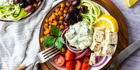 Vegan tzatziki bowl
