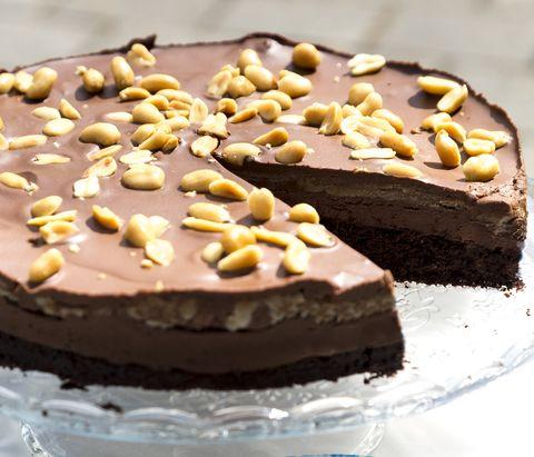 snickers taart vegan