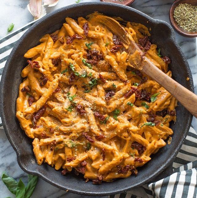 vegan sun dried tomato pasta