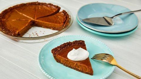 Dish, Food, Cuisine, Chess pie, Dessert, Baked goods, Pumpkin pie, Ingredient, Butter pie, Sweet potato pie,