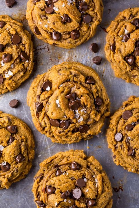 Vegan Thanksgiving Desserts - Pumpkin Chocolate Chip Cookies