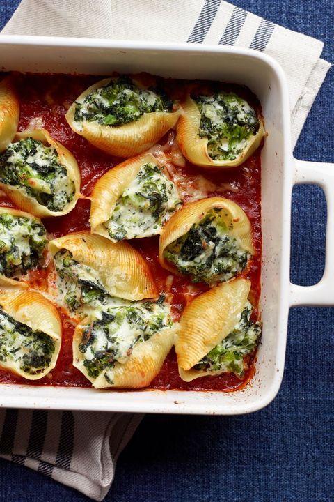 pasta recipes vegetable cheese stuffed shells