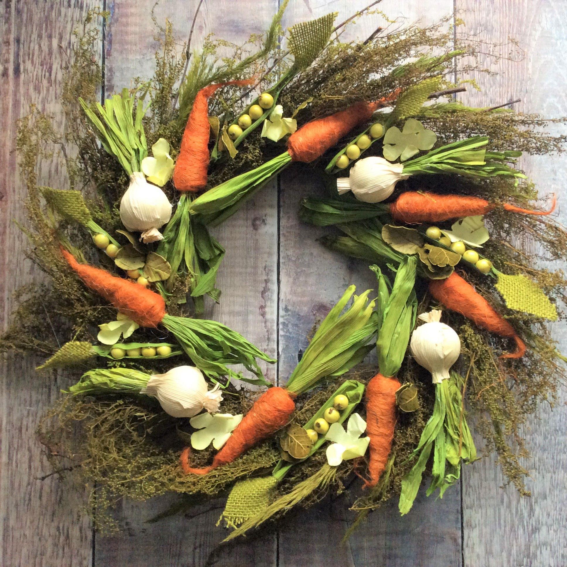 Vegetable Easter Wreath