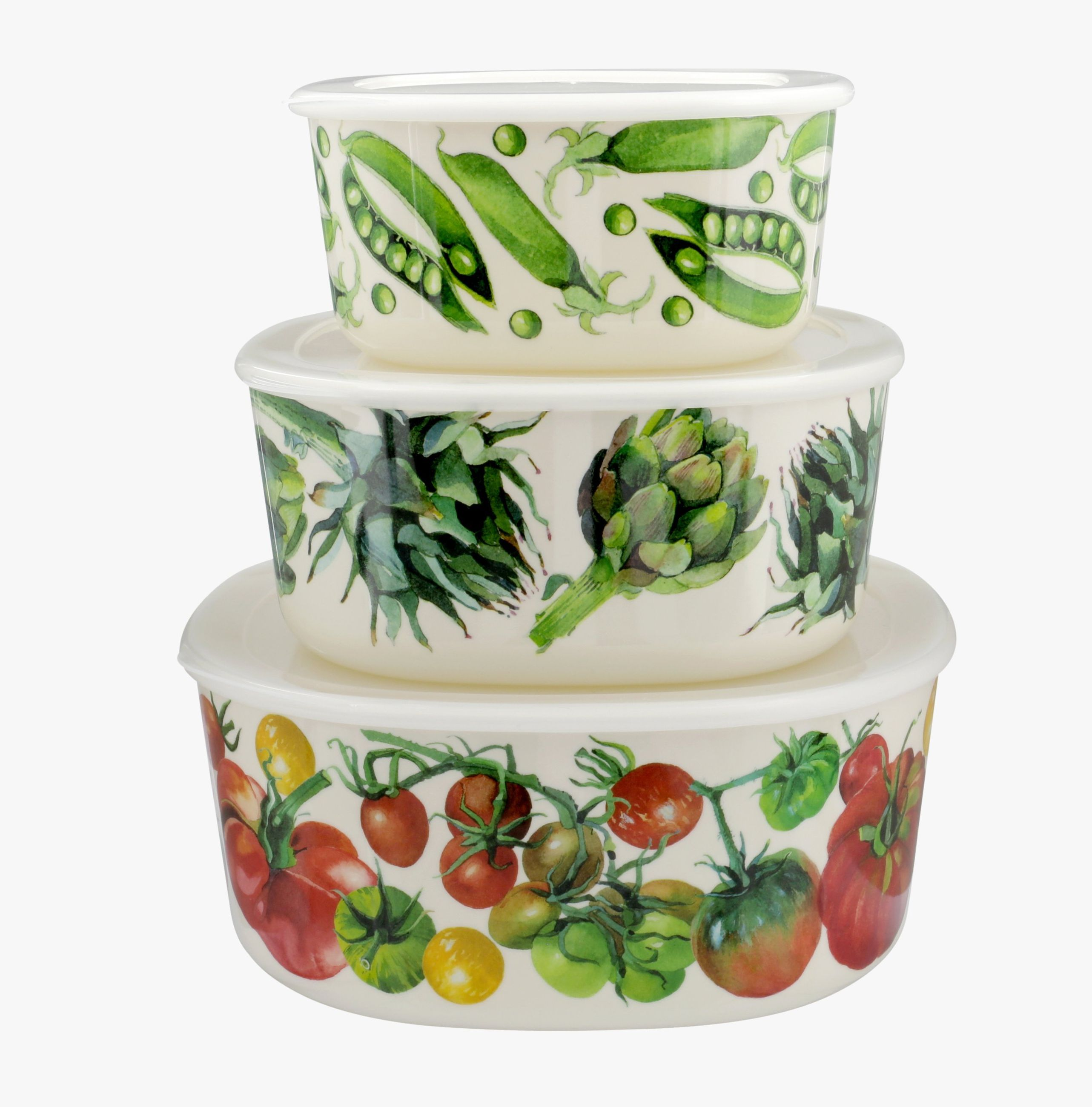 Vegetable Garden Set of 3 Storage boxes, Emma Bridgewater