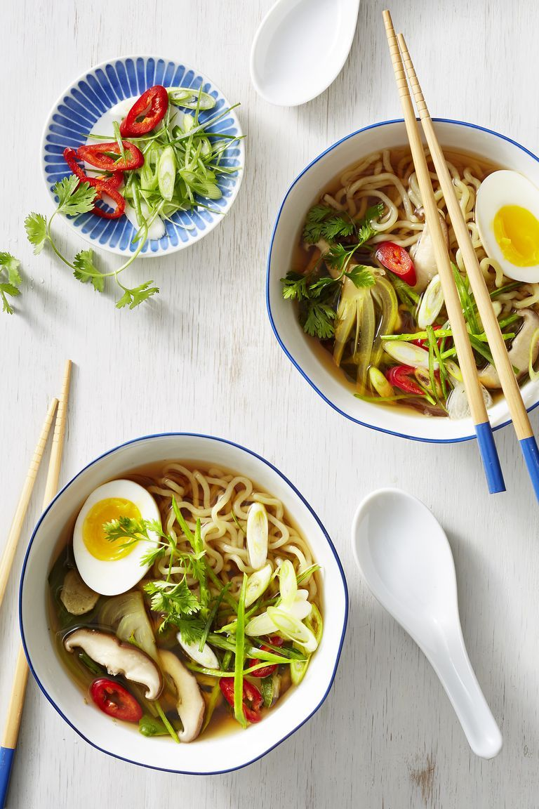 Vegetable Ramen with Mushrooms and Bok Choy - Valentine's Day Dinner Ideas