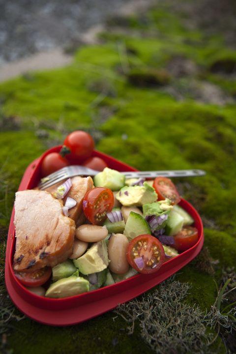 vegetable salad in plastic box