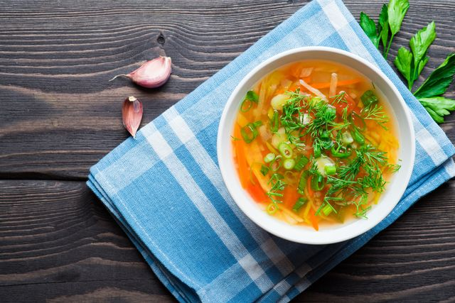 vegetable soup with carrot