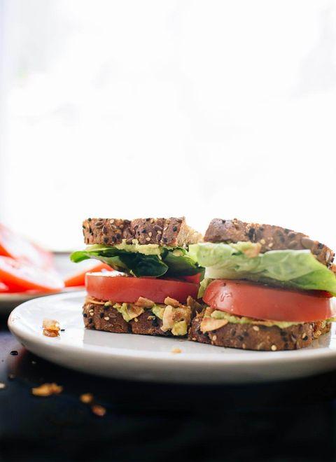 Dish, Food, Cuisine, Ingredient, Vegan nutrition, Veggie burger, Produce, Recipe, Finger food, Sandwich,