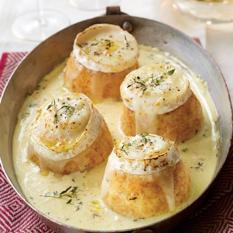 vegetarian christmas recipe twiced baked goat's cheese souffles