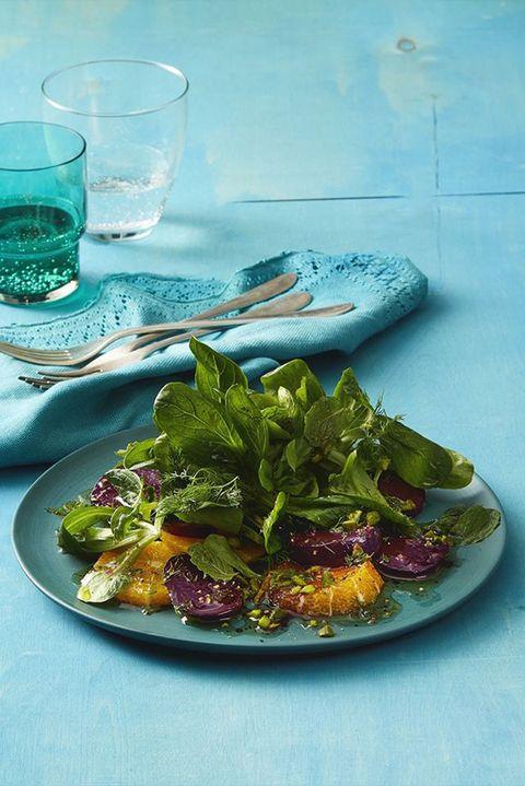vegetarian meals mache beet and orange salad