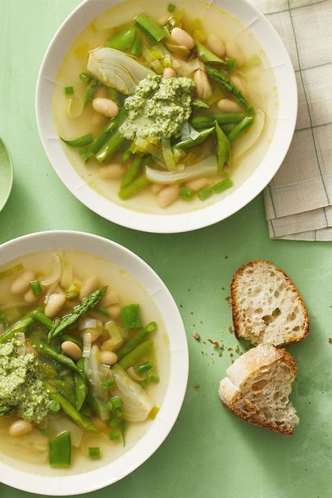 vegetarian meals spring minestrone