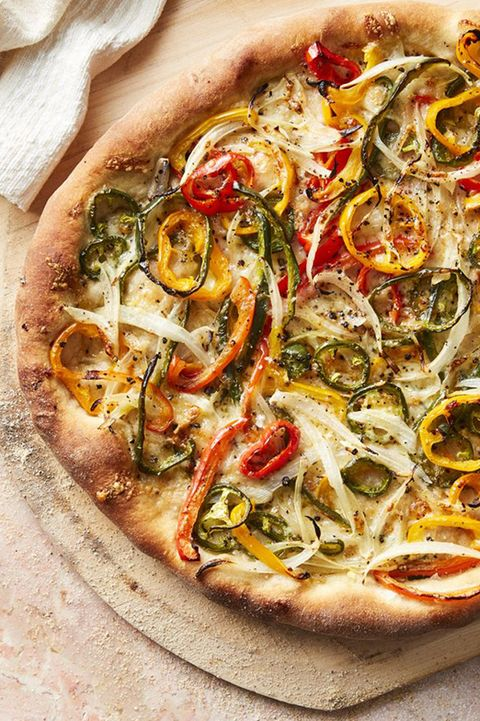 vegetarian recipes hot pepper and onion pizza