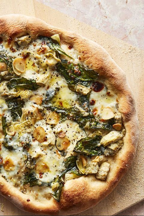 vegetarian recipes spinach and artichoke pizza