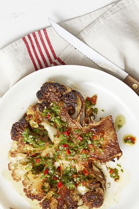 Vegetarian Thanksgiving Recipes - Cauliflower Steak