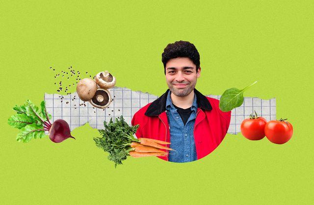 collage of veggies