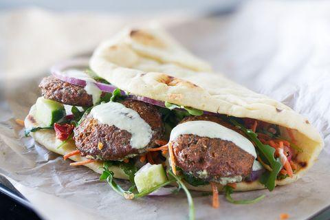 flatbreads met falafel
