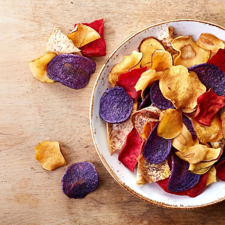"""Veggie chips A fried chip is a fried chip, no matter if it's made from beets or potatoes. """"The harmful ingredient isn't (necessarily) the thing being fried but the saturated and trans fats being used in the frying process,"""" says Adrienne Youdim , M.D., physician nutrition specialist at the Center for Nutrition in Beverly Hills."""