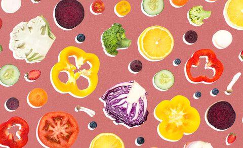 Organism, Food, Illustration, Vegetarian food, Pattern,