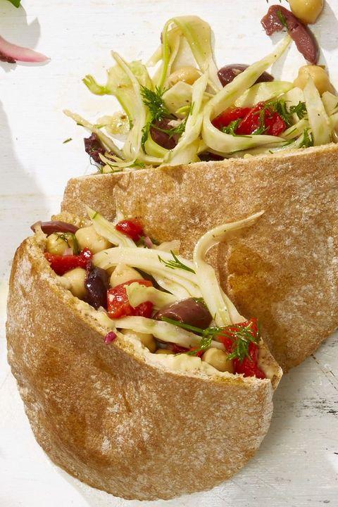 Healthy Sandwiches —Veggie Niçoise Pitas