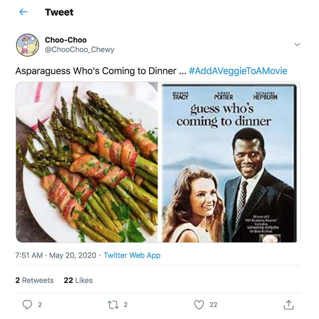 veggie themed movie puns