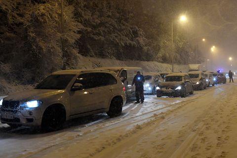 spain weather snow transport