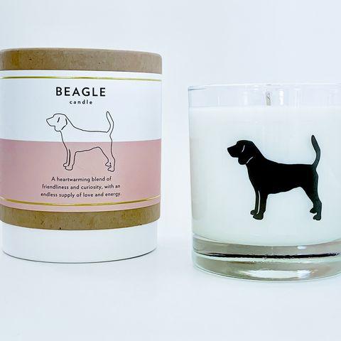 Vela aromática inspirada en la raza beagle