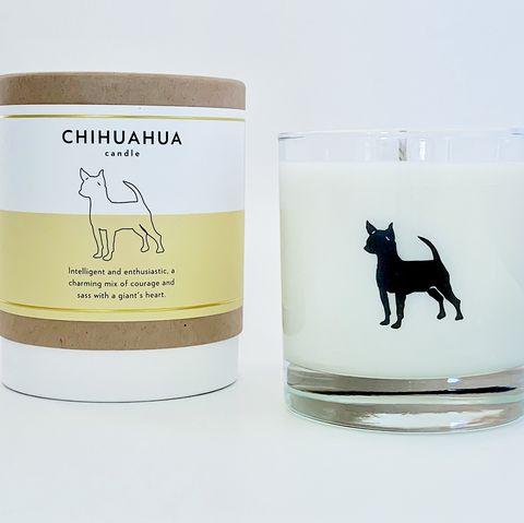 Vela aromática inspirada en la raza chihuahua