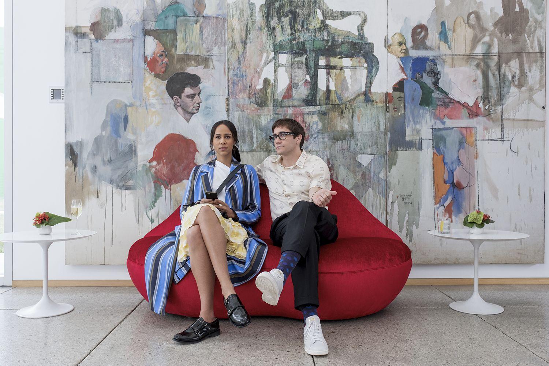 Zawe Ashton and Jake Gyllenhaal in Netflix's Velvet Buzzsaw