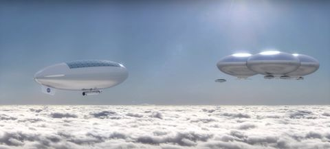Air travel, Airship, Zeppelin, Sky, Aircraft, Aerospace engineering, Airplane, Blimp, Vehicle, Airline,