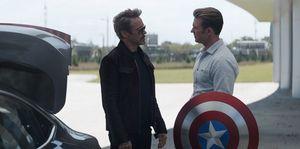 Vengadores Endgame CapitánAmérica Iron Man