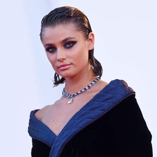 venice, italy   september 03  taylor hill walks the red carpet ahead of the movie amants at the 77th venice film festival at  on september 03, 2020 in venice, italy photo by stefania dalessandrowireimage,