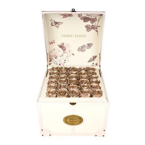 Gold Rose Love Locks Box
