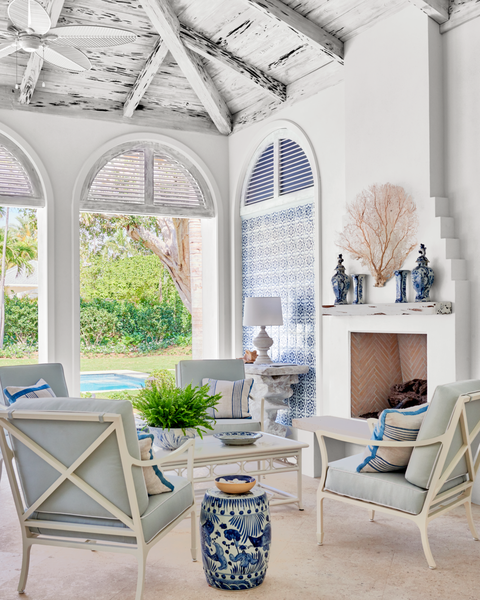 Palm Beach Home Tour See Inside The Crisp And Fresh Florida
