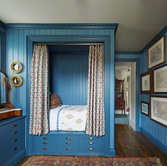 blue, furniture, room, bed, turquoise, interior design, bedroom, wall, bed sheet, curtain,